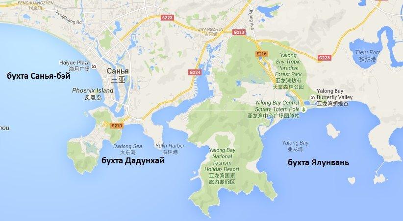 Пляжи о. Хайнань